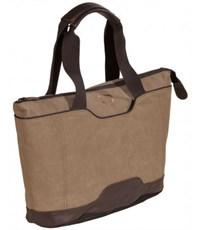 Фото 2. Молодежная сумка для отдыха Quer Q18 коричневая КОЖА+ТЕКС 882600-403