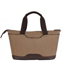 Фото 4. Молодежная сумка для отдыха Quer Q18 коричневая КОЖА+ТЕКС 882600-403