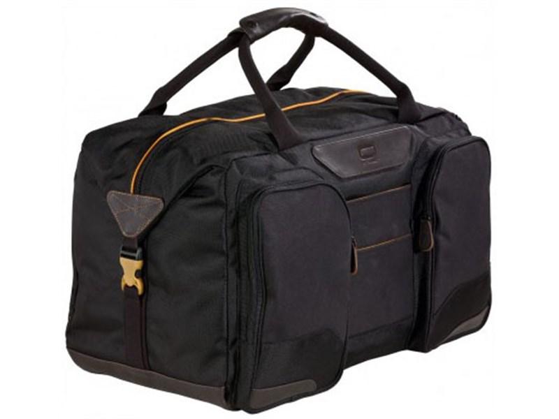 Молодежная сумка для уик-эндов Quer Q25 черная КОЖА+ТЕКС 882200-199