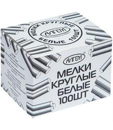 Набор белого мела Алгем, круглый, 100шт., картонная коробка
