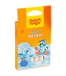 """Набор белого мела Мульти-Пульти """"Енот на Северном полюсе"""", круглый, 6шт., картон. коробка, европод."""