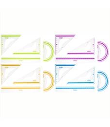 """Набор чертежный средний Berlingo """"Color Zone"""" (треуг. 2шт, линейка 20см, транспортир), прозрачный"""