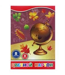 Набор цветного картона ACTION!, ф. А4, 8 цв., 8 л..