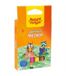 """Набор цветного мела Мульти-Пульти """"Енот на опушке леса"""", круглый, 6цв., картонная коробка, европод."""