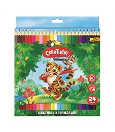 Набор цветных карандашей Creativiki 24 цв. шестигранные