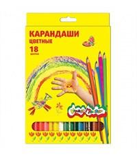 Фото 1. Набор цветных карандашей Каляка-Маляка, 18 цв. шестигранные с заточкой