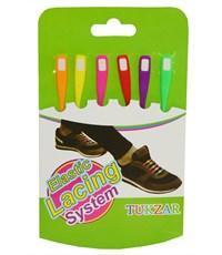 Набор цветных резиновых шнурков, 6 штук