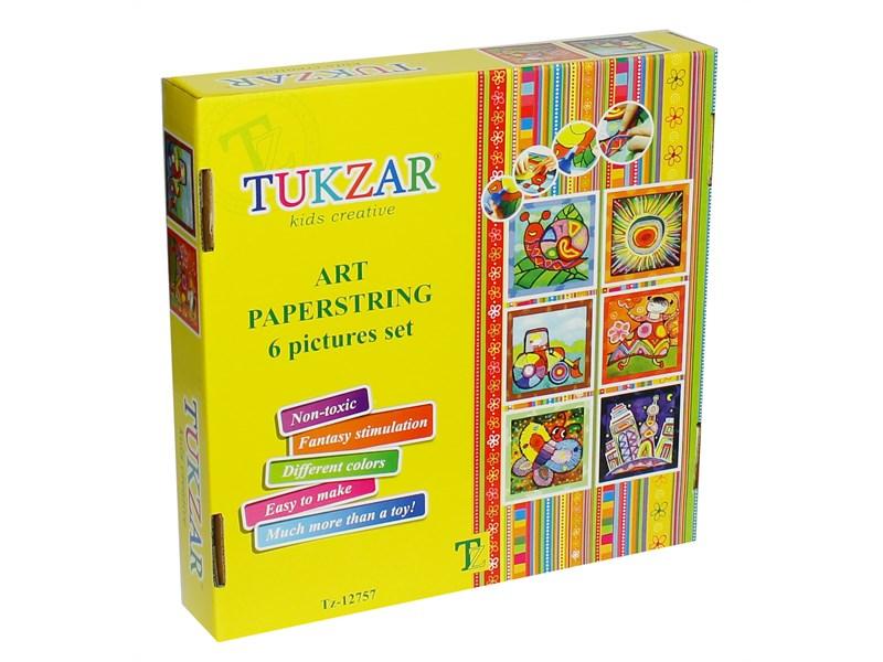 Набор для аппликаций из бумажных шнурочков Tukzar Tz-12757