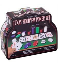 """Набор для игры в """"Покер"""", (200 фишек, 2 колоды карт, сукно), коробка"""