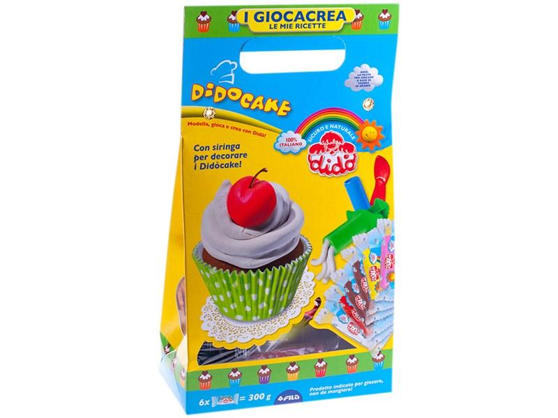 """Набор для лепки Dido """"Кекс"""", 06 цветов*50г, аксессуары, картон"""