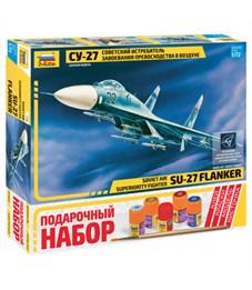 """Набор для сборки модели Звезда """"Самолет """"Су-27"""""""", масштаб 1:72"""