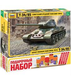 """Набор для сборки модели Звезда """"Советский средний танк """"Т-34/85"""", масштаб 1:35"""