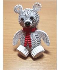 """Фото 2. Набор для квиллинга, 3D фигурки на магнитах """"Мишка и пингвин"""""""