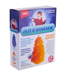 """Набор для выращивания кристаллов Lori """"Алхимик. Желтый кристалл"""", малый, от 10-ти лет"""