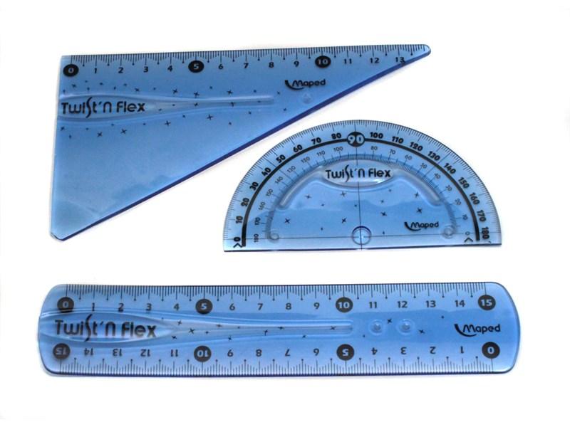 Набор гибких линеек Mapped Twist and Flex, синий, 3 пр.