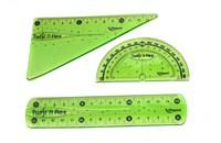 Фото 1. Набор гибких линеек Mapped Twist and Flex, зеленый, 3 пр., 8950240