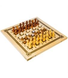 Набор игр 3 в 1 (нарды, шашки, шахматы) Орловские шахматы, деревянные с доской