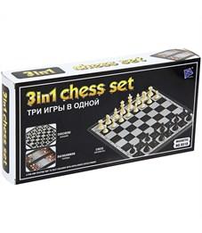 Набор игр 3 в 1 (нарды, шашки, шахматы) Veld-co, пластиковые, магнитные, картонная коробка