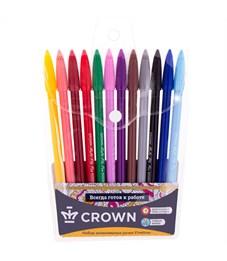 """Набор капиллярных ручек Crown """"MultiPla"""" 12цв., 0,3мм, европодвес"""