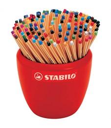 """Набор капиллярных ручек Stabilo """"Point 88"""" 47цв., 150шт., 0,4мм, керамический горшок"""