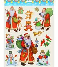 Набор новогодних наклеек Tukzar Микс-03
