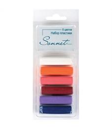 """Набор пластики для лепки Сонет """"Ягодные цвета"""", 06цветов, 120г, блистер"""
