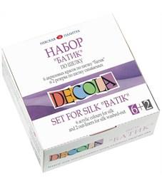 Набор по шелку Decola, краски акриловые 6*50мл, 2 резерва
