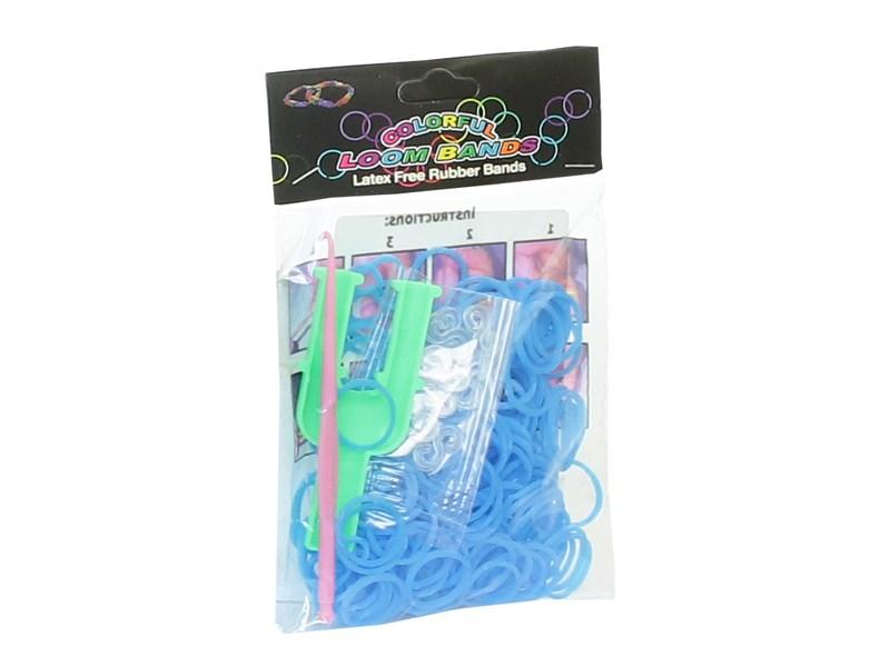Набор резинок для плетения Loom Bands 200 голубые