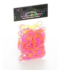 Набор резинок для плетения Loom Bands 600 розово-оранжевые