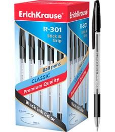 Шариковая ручка Erich Krause R-301 CLASSIC 1.0 Stick&Grip, черный