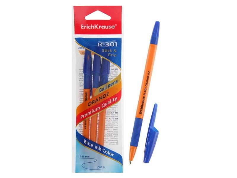 Набор шариковых ручек Erich Krause R-301 ORANGE 0.7 Stick&Grip