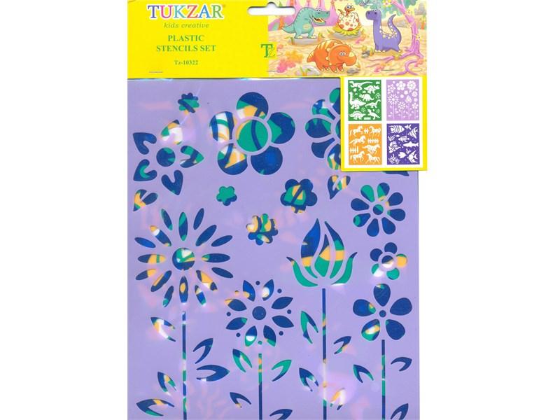 Набор Tukzar из 4 трафаретов 4 вида