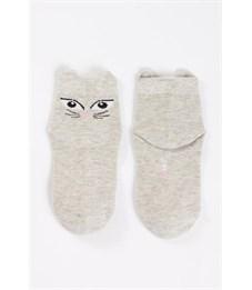 Носки детские Mark Formelle 405K-075 св.серый меланж Кошка