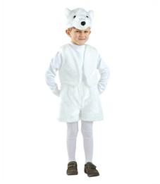 Новогодний костюм Белый Медведь для мальчика Батик