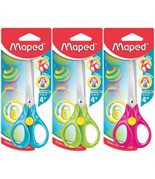 """Ножницы детские Maped """"Sequrity 3D"""" 13см, эргономичные ручки, блокировка лезвий, ассорти, европодвес"""