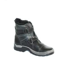 Ботинки зимние Котофей черный/серый
