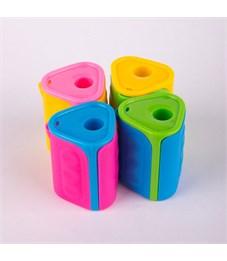 Фото 2. Точилка пластиковая ArtSpace, 1 отверстие, контейнер, ассорти