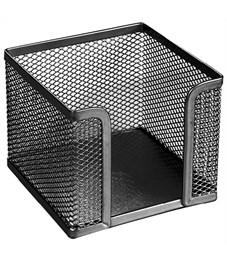 """Подставка для бумажного блока Erich Krause """"Steel"""", 9,5*9,5*8, сетчатый металл, черный"""