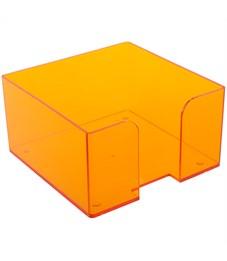 Подставка для бумажного блока Стамм, 9*9*5, тонированный, цвет манго