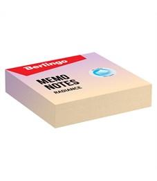 """Блок для записи декоративный на склейке Berlingo """"Radiance"""", 8,5*8,5*2, желтый-сиреневый, 220л."""