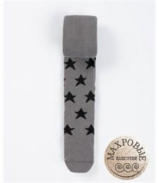 Колготки детские махровые Mark Formelle 702K-265 серый Звёзды