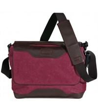 Фото 1. Молодежная сумка через плечо Quer IV Q23 для учебы бордовая
