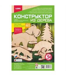 """Конструктор деревянный Lori """"Лесные животные. Набор №3"""""""
