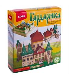 """Конструктор из деревянной соломки Lori """"Гардарика. Княжеские палаты"""", от 6-ти лет, картонная коробка"""