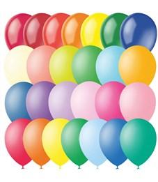 Воздушные шары, 100шт., М12/30см, Поиск, ассорти, пастель+декор