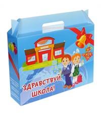 Коробка для набора первоклассника, синяя