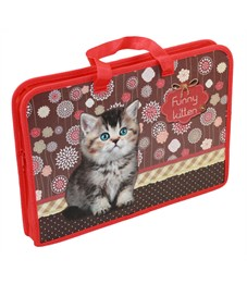Папка для тетрадей, А4, Оникс Funny kitten