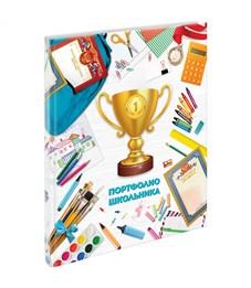 Папка-портфолио 7БЦ А4 ArtSpace, на сутаже для школьника, 20 файлов, 10 вкладышей