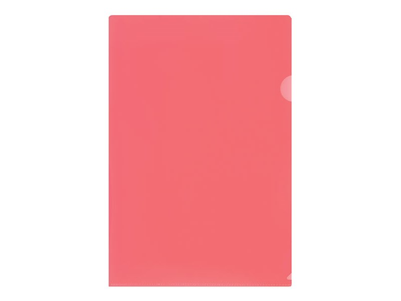 Папка-уголок inФОРМАТ A4 пластик 150 мк, красный