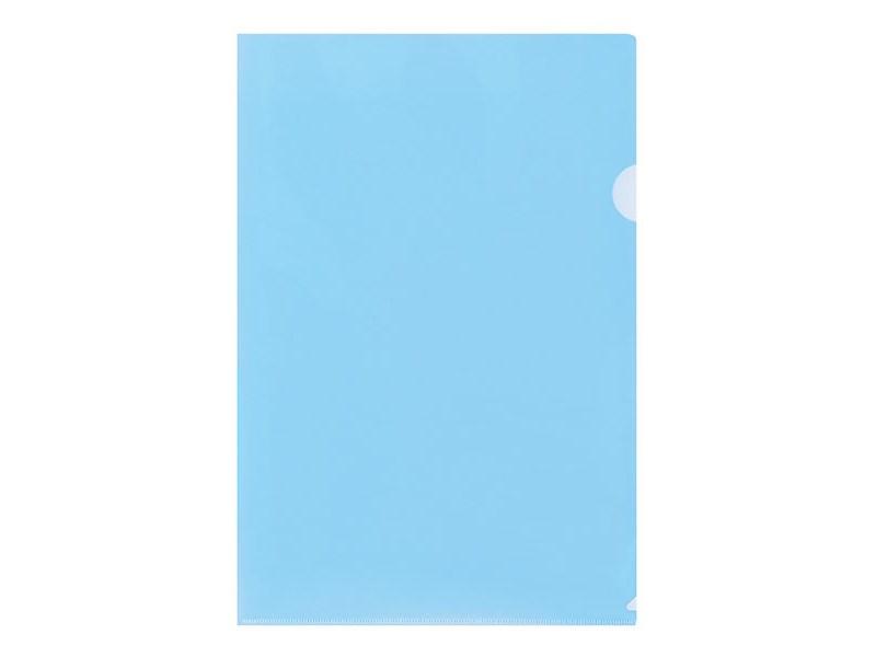 Папка-уголок inФОРМАТ A4 пластик 150 мк, синий